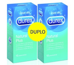 Duplo Durex Natural Plus 12UDS