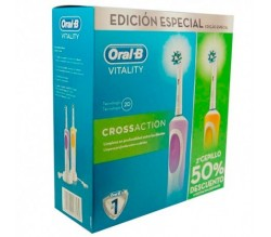 Pack Cepillos de dientes Eléctrico Braun Oral B Duo Vitality Cross Action